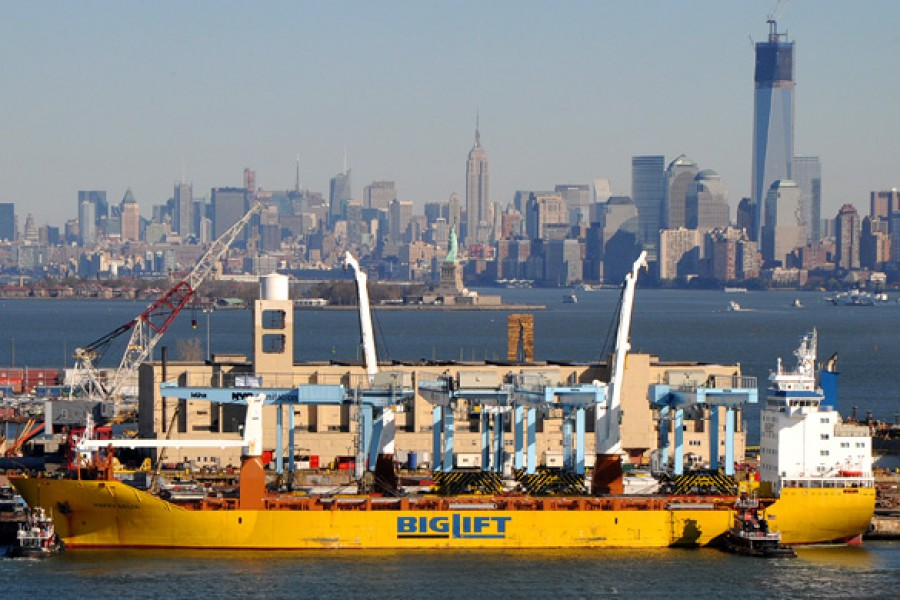 Two shipments of gantry cranes for Sanitation NY