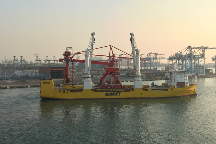 Heaviest continuous ship unloader ever shipped by Happy Star