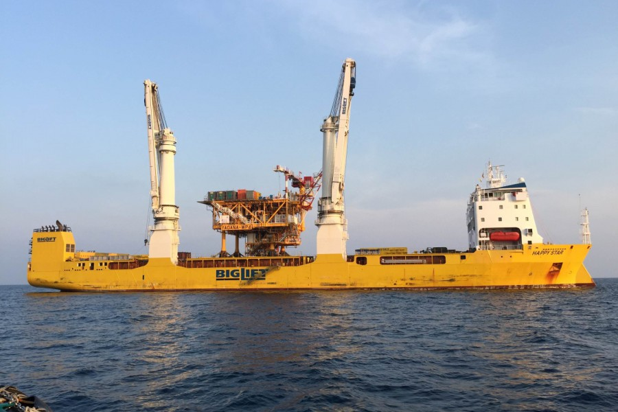 BigLift's Happy Star delivers key part of Yadana gas field offshore