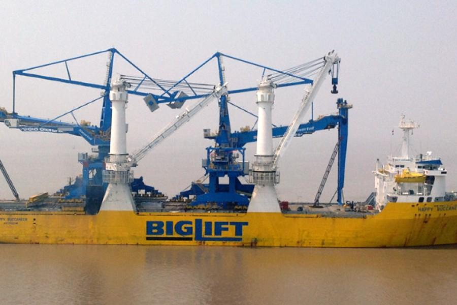 Two Coal Ship Unloaders
