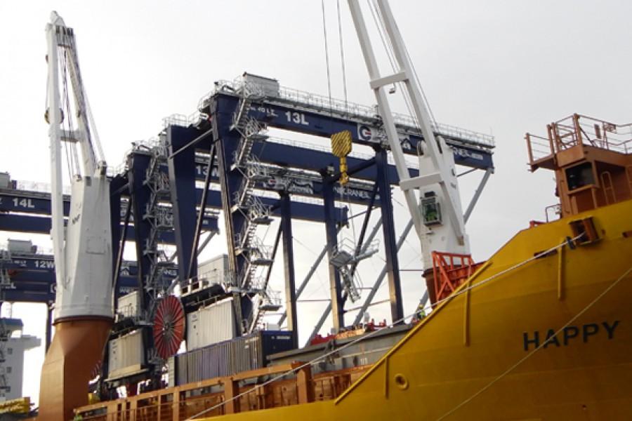 Five Kone ARMG cranes